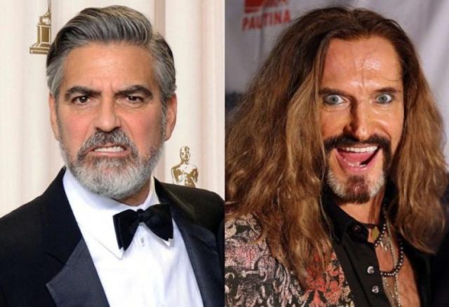 """Джордж Клуни и Никита Джигурда (56 лет). Возможно, если бы российский актер и певец стремился выглядеть брутально и """"классически"""", то мог бы посоперничать с голливудским мачо. Сейчас же, глядя на него, возраст - это последнее, что приходит в голову."""