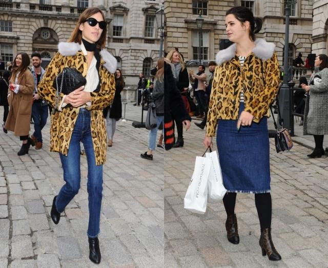 Алекса Чанг и Пикси Гелдоф выбрали одинаковые наряды для того, чтобы добраться на Лондонскую неделю моды.