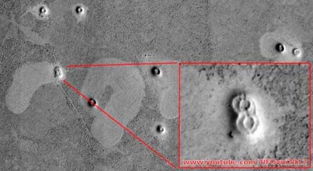 Еще одни загадочные сооружения на Марсе.