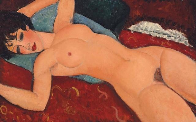 """$170 405 000. """"Лежащая обнаженная с раскинутыми руками"""" , Амедео Модильяни, 1917 год."""