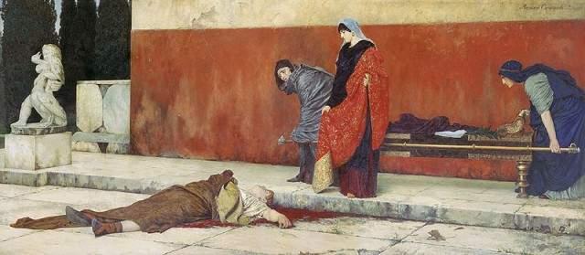 Беспощадное правление Нерона обрекло его на изгнание, а после и на самоубийство.