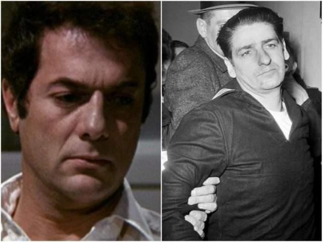 """""""Бостонский душитель"""", 1968. Тони Кертис в роли Альберта де Сальво. Признался в убийстве и изнасиловании 13 женщин, однако цифра может быть в три раза больше. Де Сальво был осужден пожизненно, но в ноябре 1973 года маньяка зарезали в тюрьме."""