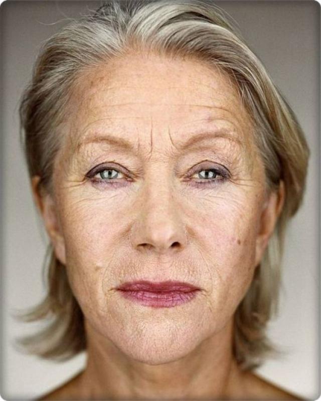 Хелен даже участвует в фотосессиях, которые подчеркивают ее возраст.
