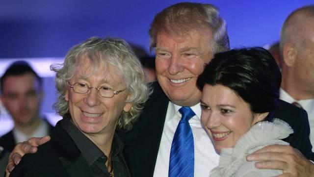 Дональд Трамп с Аркадием Укупником и его супругой.