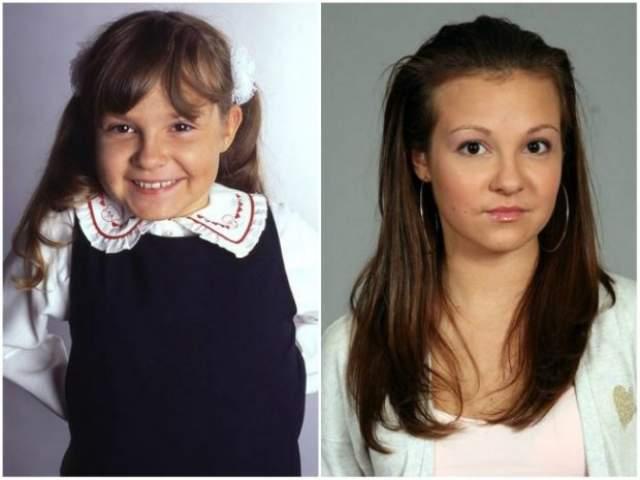 """Ирина Андреева , воплотившая на экране младшую дочь продюсера Максима Шаталина в сериале """"Моя прекрасная няня"""", преобразилась, пожалуй, больше всех из этого сериала."""