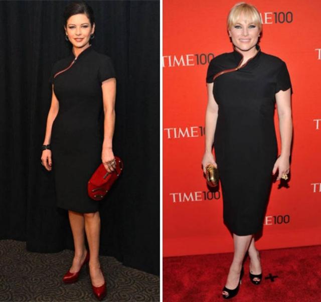 Американская телеведущая и дочь сенатора Джона Маккейна, Меган Маккейн , появилась в таком же наряде, что и актриса Кэтрин Зета Джонс .