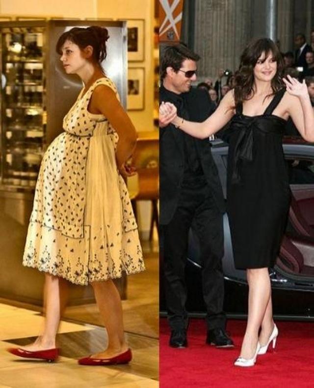 Кэти Холмс. Для похудения актрисе понадобилась пара месяцев.