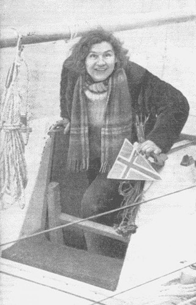 Кристина Хойновская-Лискевич стала первой женщиной, совершившей одиночное кругосветное плавание.
