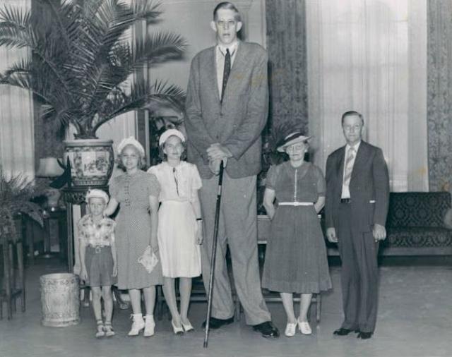 Роберт Уодлоу, 1918-1940, США. Рост 2,72 метра. Американец Роберт Вадлоу – не просто самый высокий человек в мире, а еще и самый высокий член масонской ложи за всю историю организации. Для его посвящения членам ложи пришлось сделать самое большое кольцо в мире.