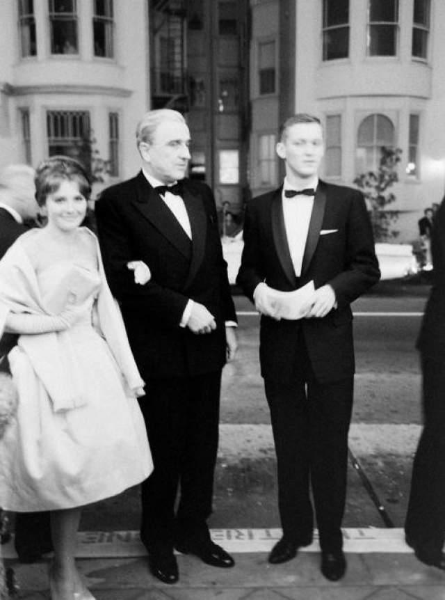 """Советские актеры на кинофестивале в Сан-Франциско с фильмом """"Баллада о солдате""""."""