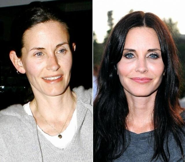 """Кортни Кокс. Глядя на лицо звезды сериала """"Друзья"""", даже без макияжа, сложно поверить, что ей за 50."""