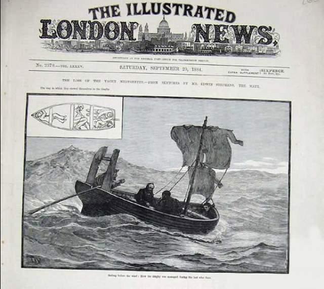 В одной из частей трое обезумевших от голода моряков, дрейфующих на спасательной шлюпке в Южных морях, съедают своего товарища — юнгу Ричарда Паркера.