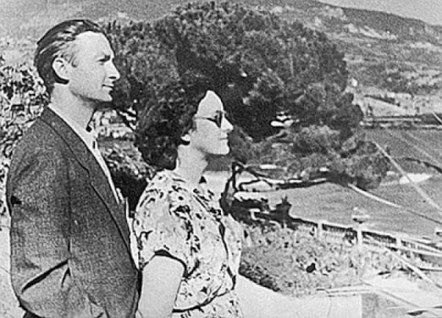 Георгий Вицин с женой Тамарой.