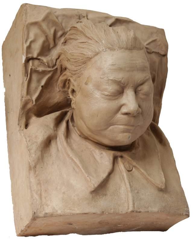 Через девять лет он же стал автором и посмертной маска самой Надежды Крупской .