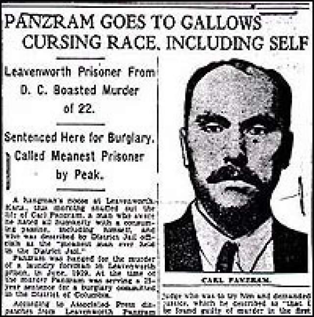 В 1920 году после очередного побега Панцрам умудрился, сам того не зная, обворовать дом бывшего президента США Уильяма Тафта. Награбленную сумму он потратил на яхту, на которой отправился в кровавый круиз, убивая, насилуя и грабя всех на своем пути.