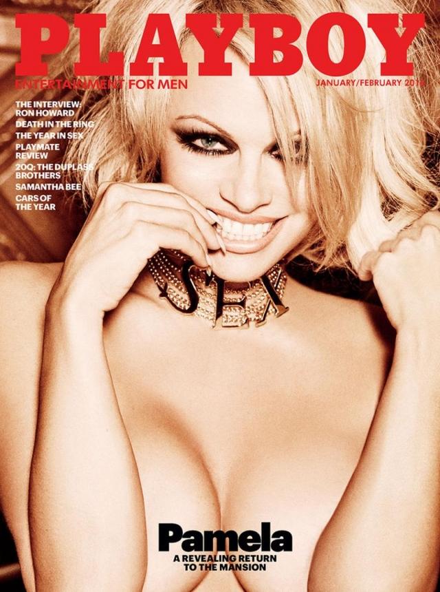 А немногим ранее неугомонная Андерсон разделась ради последней эротической обложки Playboy .