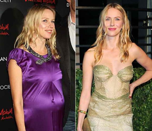 Наоми Уоттс. Актриса вернула стройность за несколько месяцев, благодаря грудному вскармливанию.