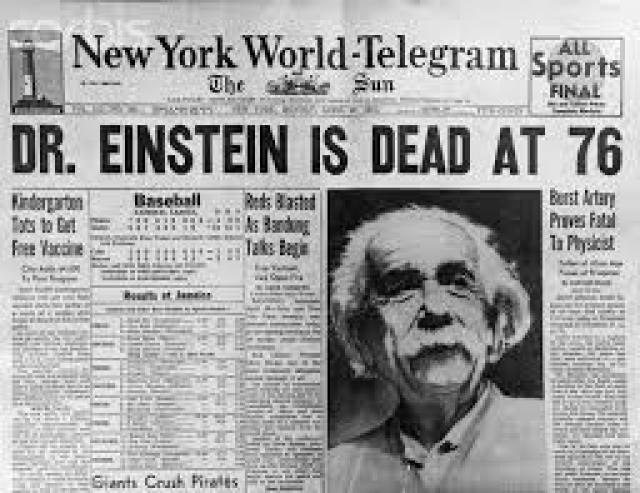 """Эйнштейн умер в 1955 году, в возрасте 76 лет. Ему необходимо было срочно провести операцию, тогда он смог бы прожить еще несколько лет. Но ученый отказался, сказав врачам:"""" Я хочу уйти тогда, когда этого просит мой организм. Продлевать жизнь искусственным путем кажется мне дурным вкусом. Это моя судьба, мое время, чтобы уйти. Я cделаю это элегантно """"."""