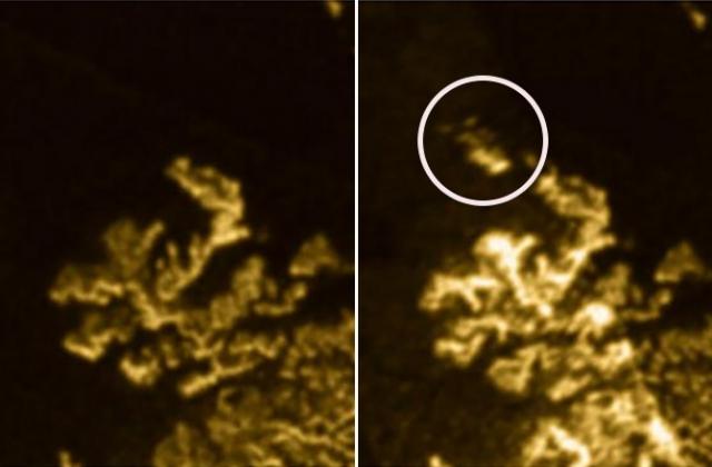 Загадочный остров Титана. Самый большой спутник Сатурна, Титан, очень напоминает первобытную Землю, с ее атмосферой, веществами и, возможно, геологической активностью.