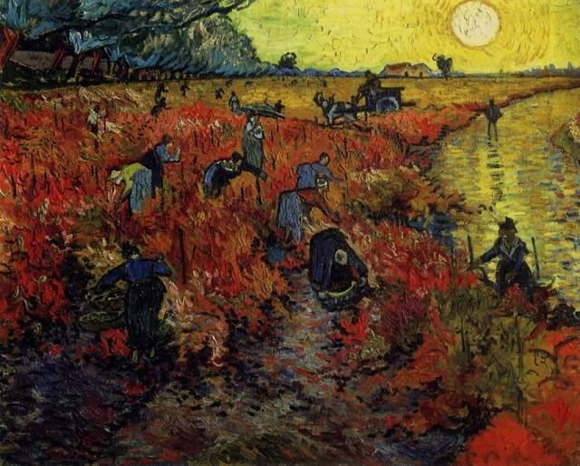 """Сегодня известно около 850 полотен художника, множество рисунков и гравюр, а при жизни он продал всего одну работу — """"Красные виноградники"""", да и ту купил друг Ван Гога."""