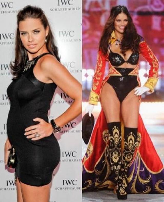 Адриана Лима. Бразильская модель Victoria Secret демонстрировала на подиуме нижнее белье уже в ноябре, хотя ребенка родила в сентябре.