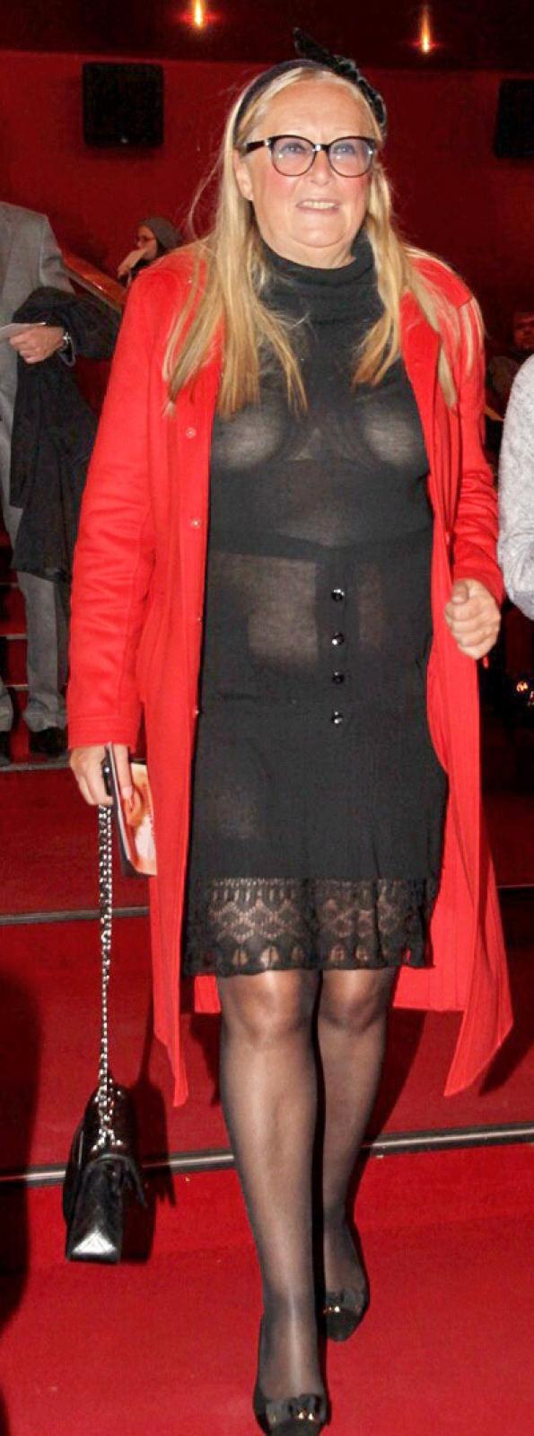 Татьяна Михалкова. Платье явно не подходит даме ни фасоном, ни размером, ни текстурой ткани.