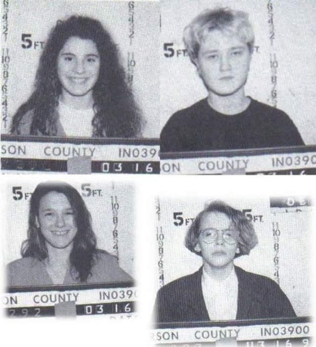 Мелинда Лавлесс, Лори Такетт, Хоуп Рипли и Тони Лоренс . 14-15-летние подростки в 1990 году зверски замучили и убили свою знакомую, 12-летнюю Шанду Шайер.