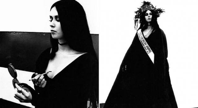 """Мисс """"Американская вампирша"""". Этот удивительно неожиданный конкурс прошел в городе Пэлисэйдс Парк в Нью-Джерси в 1970 году. Он был частью рекламы в поддержку вампирского фильма """"Дом мрачных теней""""."""