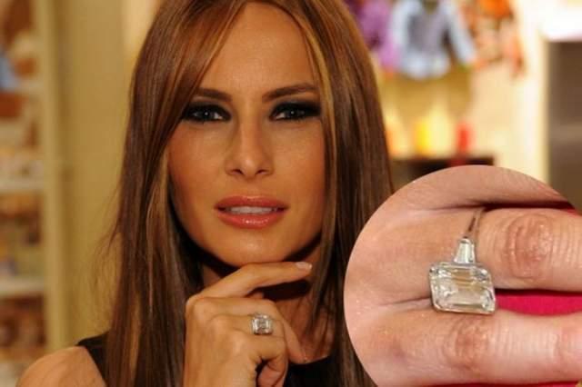 И только в 2004-м Трамп предложил Мелании свои руку, сердце и кольцо с бриллиантом в 12 карат стоимостью $1,5 млн.