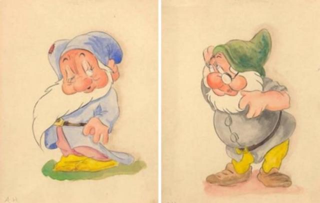 """Гитлер обожал Диснея и даже называл """"Белоснежку"""" одним из лучших в мире фильмов. Позже даже были обнаружены эскизы Робкого гнома, Дока и Буратино, которые сделал сам фюрер, с 2008 года они выставляются в музее в Норвегии."""