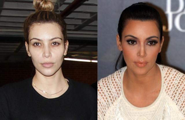 Ким Кардашьян. Еще одна любительница яркого вечернего макияжа без оного. Ким выглядит не так уж плохо, но, согласитесь, довольно обычно.