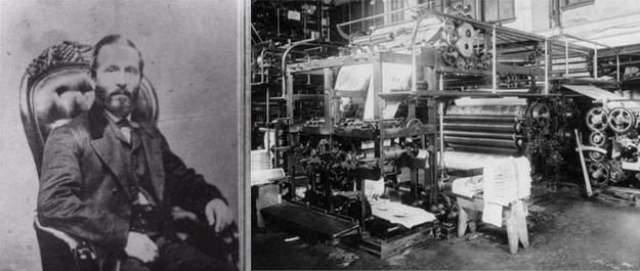 """В 1867 году Баллок попытался привести в движение ременной привод на барабане, пользуясь """"самой действенной технологией"""" – пинком. Нога изобретателя застряла и раздробилась в машине. Образовалась гангрена. Во время операции по ампутации он скончался."""