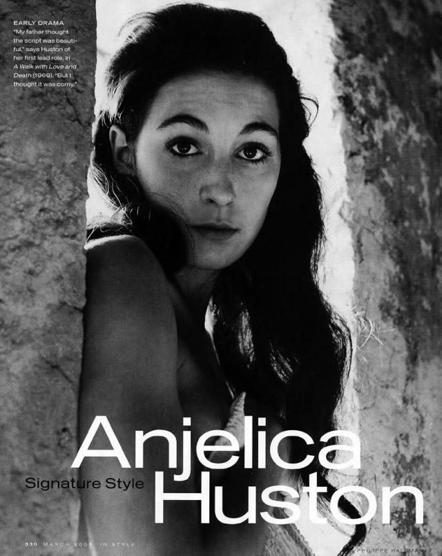 Фотограф Ричард Аведон представил Анжелику Диане Вриланд, возглавлявшей в конце 60-х американский Vogue, со страниц которого Хьюстон не сходила следующие несколько лет.