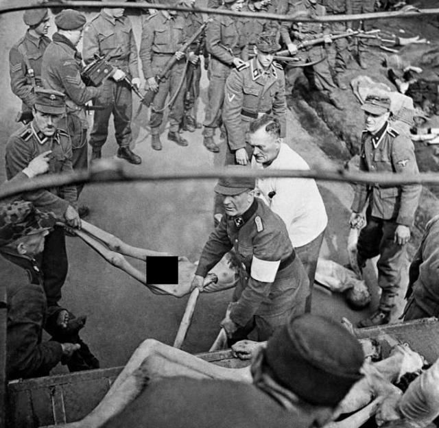 В январе 1945 года прибыли тысячи евреев из польских концлагерей. Многие из них смертельно больны, сотни тел остаются безжизненно лежать в вагонах.