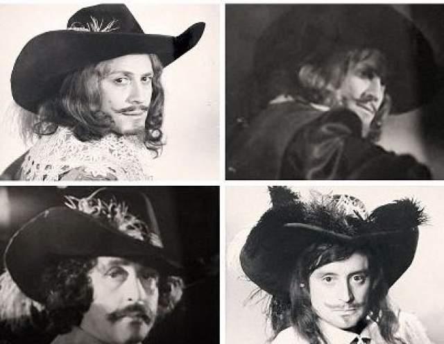 Фотопробы Ю. Соломина, В. Ливанова и В. Смехова на роль Атоса.