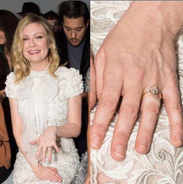 """По данным инсайдеров, Племонс уже сделал актрисе предложение во время вечеринки по случаю """"Золотого глобуса 2017"""". Сейчас Кирстен всюду демонстрирует обручальное кольцо."""