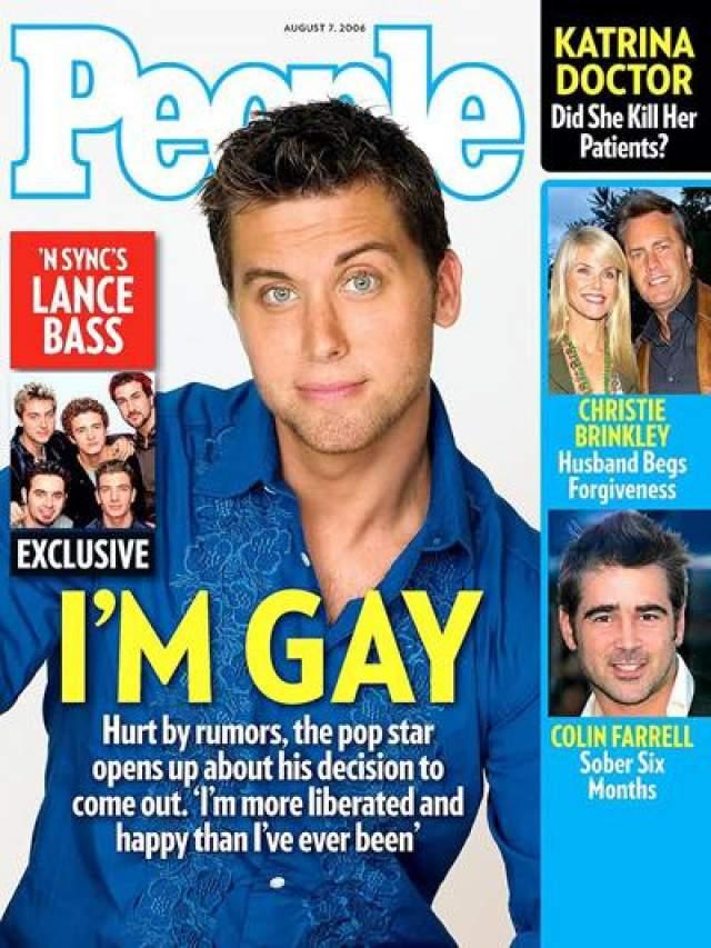 В том же году ряды открытых геев пополнил участник популярного бойз-бенда N Sync, Лэнс Басс, гомосексуальную ориентацию которого подметил скандальный светский блогер Перец Хилтон.