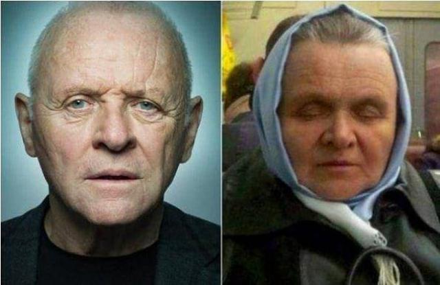 Энтони Хопкинс и российская старушка явно напоминают друг друга.