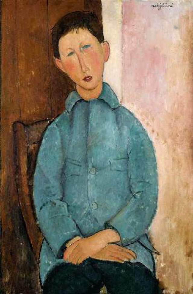 """На аукционе """"Сотбис"""" 2004 года самым дорогим лотом стал """"Мальчик в голубом пиджаке"""" Модильяни. Картину продали за 11.2 млн долларов."""