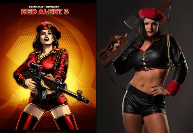 Кроме того, Джина сотрудничает с создателями компьютерных игр. В 2008 году Джина Карано появилась в компьютерной игре Red Alert 3. Американка снялась в фотосессии для игры в роли спецназовца и снайпера из СССР Наташи Волковой.