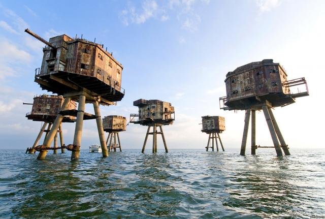 Зенитные башни Маунселла. Во время Второй мировой башни были воздвигнуты для отражения нацистских ударов.