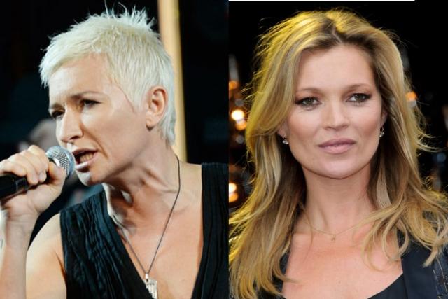 Диана Арбенина и Кейт Мосс (43 года). Обе блондинки выглядят весьма нестандартно и стильно.