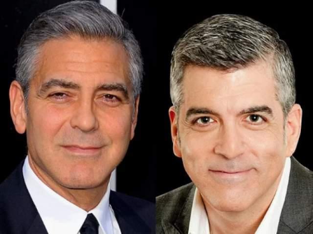 """Но с тех пор как Клуни женился на своей возлюбленной Амаль, карьера Дэвида пошла на спад, и он очень хочет найти и себе жену - похожую на супругу """"коллеги""""."""