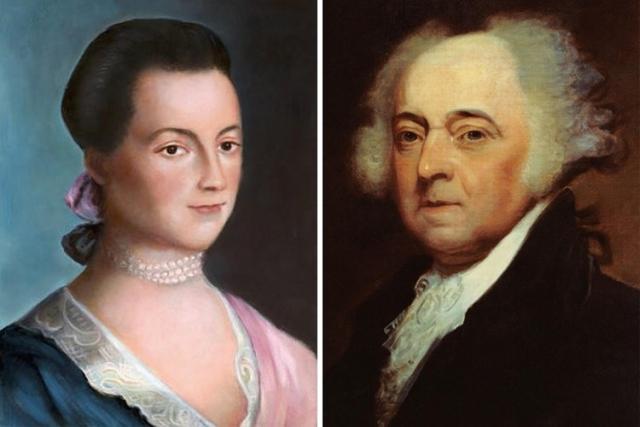 Джон Адамс. Отец-основатель США знал свою бывшую жену практически всю жизнь. Джон влюбился в скромную и застенчивую троюродную сестру Эбигейл, которая больше любила читать книги, чем бегать на свидания как остальные девочки.