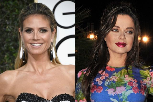Наташа Королева и Хайди Клум (44 года). Внешность звезд практически противоположна, но объединяет их тот факт, что выглядят они явно моложе своего возраста.