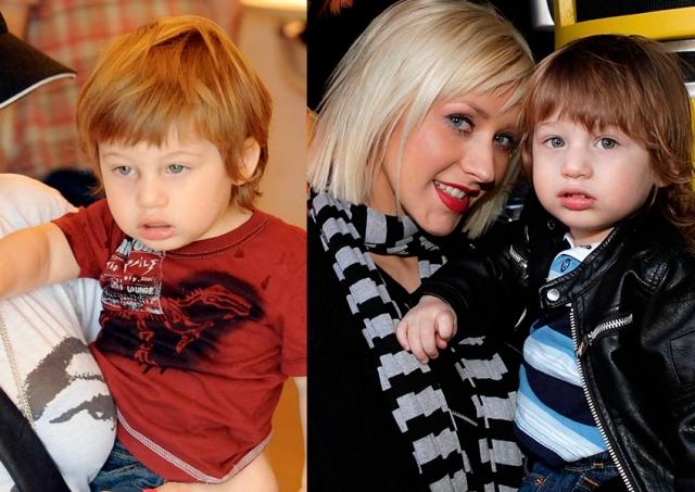 Сын Кристины Агилеры. Макс Лайрон Брэтман похож скорее на папу, музыкального продюсера Джордана Брэтмана, которого сложно назвать Аполлоном.