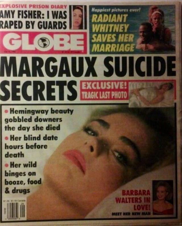 1 июля 1996 года, за день до годовщины самоубийства своего деда, Марго Хемингуэй скончалась от преднамеренной передозировки фенобарбитала в своей однокомнатной квартире в Санта-Монике.