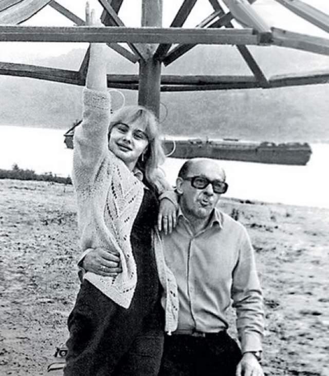 Евгений Евстигнеев с дочерью Машей.