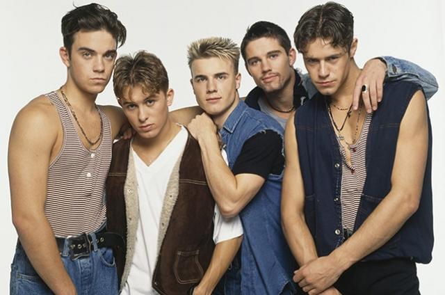 """Take That. Еще одна английская поп-рок-группа, которая отличалась от других """"мальчиковых"""" групп 1990-х тем, что участники сами сочиняли свои песни. Уже в 1996 году группа распалась."""