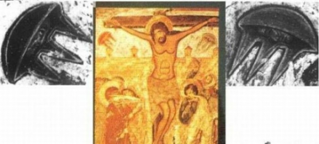 Фреска Собора Светицховели в Мцхета, Грузия, также содержит в себе загадочное изображение.